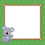 Koala with white blank Stock Image
