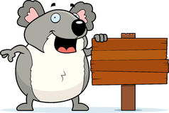 Koala-Zeichen Lizenzfreies Stockbild