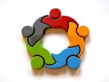 Koalition der Teamwork-3D Abbildung der Wiedergabe 3d Stockfoto