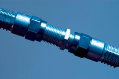 koaxial anslutning iii för kabel Arkivbild