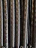 Koaxialkabel benutzt für Fernseh-und Internet-Modem Lizenzfreies Stockfoto