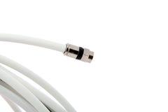 koaxialt kontaktdon för kabel Arkivbilder