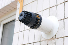 Koaxialt lampglasrör Individuell uppvärmning Gammal byggnad med koaxiala efterbehandlingar för ett rör Royaltyfri Foto