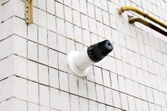 Koaxialt lampglasrör Individuell uppvärmning Gammal byggnad med koaxiala efterbehandlingar för ett rör Fotografering för Bildbyråer