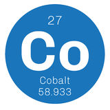Kobalt chemisch element royalty-vrije illustratie