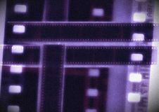 Kobalt Ekranowej rolki kolażu filmu Wektorowy pasek w sepiowych różnicach Obrazy Stock
