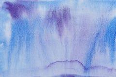 Kobaltaquarellabstraktion des überseeischen Blaus Stockbilder