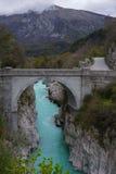 Kobarid και napoleon γέφυρα στοκ εικόνα με δικαίωμα ελεύθερης χρήσης