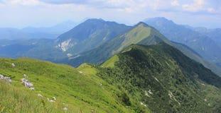 Kobariski Stol和Muzec山,斯洛文尼亚 免版税图库摄影