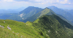 Kobariski Stol and Muzec mountains, Slovenia Royalty Free Stock Photography