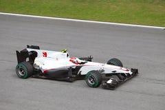 Kobayashi am Malaysian F1 Lizenzfreies Stockbild