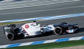 Kobayashi Test Driving his F1 Sauber Racing Car Royalty Free Stock Images