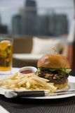 Kobe Beef Burger Stock Photography