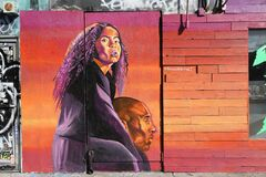 Free Kobe Bryant And His Daughter Memorial Street Art Graffiti Royalty Free Stock Images - 173526859