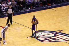 Kobe Bryant in the game against New Jersey Nets Royalty Free Stock Image
