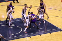 Kobe Bryant in the game against New Jersey Nets Royalty Free Stock Photos