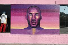 Free Kobe Bryant Memorial Street Art Graffiti Royalty Free Stock Image - 173526786
