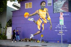 Free Kobe Bryant Memorial Street Art Graffiti Stock Photography - 173526912