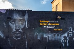 Free Kobe Bryant Mural In Watts, Los Angeles Royalty Free Stock Photos - 173555138