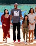 Kobe Bryant, Vanessa Bryant, Gianna Maria Onore Bryant en Natalia Diamante Bryant stock foto