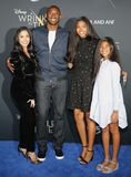 Kobe Bryant, Vanessa Bryant, Gianna Maria Onore Bryant and Natalia Diamante Bryant. At the Los Angeles premiere of `A Wrinkle In Time` held at the El Capitan Royalty Free Stock Images