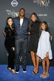 Kobe Bryant, Vanessa Bryant, Gianna Maria Onore Bryant and Natalia Diamante Bryant. At the Los Angeles premiere of `A Wrinkle In Time` held at the El Capitan Stock Photos