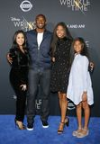 Kobe Bryant, Vanessa Bryant, Gianna Maria Onore Bryant and Natalia Diamante Bryant. At the Los Angeles premiere of `A Wrinkle In Time` held at the El Capitan Royalty Free Stock Photo