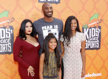 Kobe Bryant, Vanessa Bryant, Gianna Maria Onore Bryant and Natalia Diamante Bryant Royalty Free Stock Photo