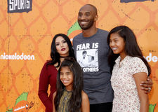 Kobe Bryant, Vanessa Bryant, Gianna Maria Onore Bryant and Natalia Diamante Bryant Royalty Free Stock Photography