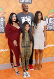 Kobe Bryant, Vanessa Bryant, Gianna Maria Onore Bryant and Natalia Diamante Bryant Stock Photo