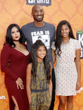 Kobe Bryant, Vanessa Bryant, Gianna Maria Onore Bryant and Natalia Diamante Bryant Royalty Free Stock Images