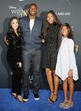 Kobe Bryant, Vanessa Bryant, Gianna Maria Onore Bryant och Natalia Diamante Bryant royaltyfria bilder