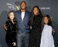 Kobe Bryant, Vanessa Bryant, Gianna Maria Onore Bryant och Natalia Diamante Bryant arkivbild