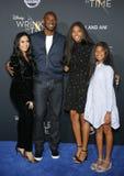 Kobe Bryant, Vanessa Bryant, Gianna Maria Onore Bryant und Natalia Diamante Bryant stockfoto