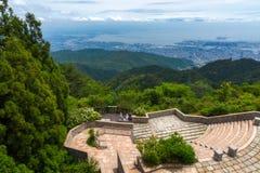 Kobe City na montagem Rokko fotografia de stock royalty free