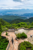 Kobe City in Onderstel Rokko royalty-vrije stock afbeeldingen