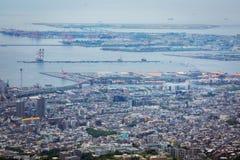 Kobe City in Onderstel Rokko stock fotografie
