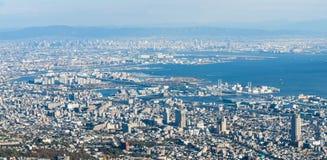 Kobe Cityscape, Luchtmening van MT maya Royalty-vrije Stock Afbeeldingen