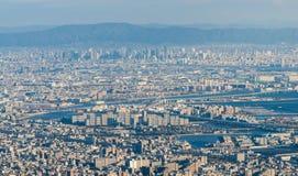Kobe Cityscape, Luchtmening van MT maya Stock Foto's