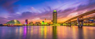 Kobe, de Havenhorizon van Japan royalty-vrije stock afbeeldingen