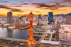 Kobe, de Horizon van Japan royalty-vrije stock foto's