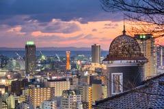 Kobe, de Horizon van Japan Stock Afbeeldingen