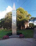 Kobe Friendship Clock Riga Lettland, Europa Royaltyfri Foto