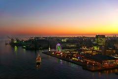 Kobe-Hafen-Nacht Lizenzfreie Stockfotos