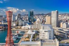Kobe Harbor Skyline Arkivbilder