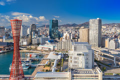 Kobe Harbor Skyline Stock Images