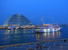 Kobe Harbour cruise ship.  Stock Image