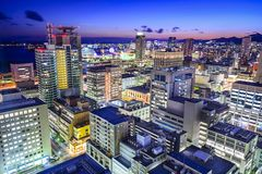 Kobe, Japan City Skyline Stock Images