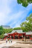 Kobe, Japan - 27. Juni 2017: Ikuta-Schrein in Kobe-Stadt Japan Lizenzfreie Stockfotos