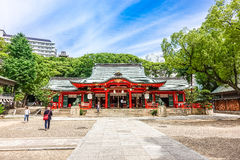 Kobe, Japan - 27. Juni 2017: Ikuta-Schrein in Kobe-Stadt Japan Lizenzfreie Stockbilder